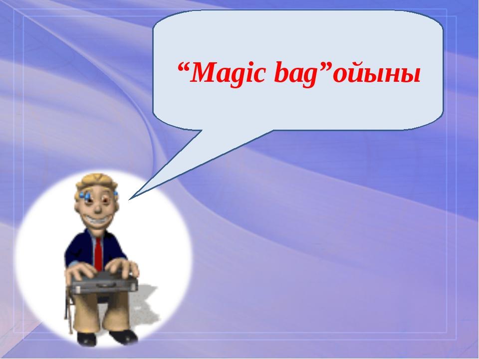 """Magic bag""ойыны"