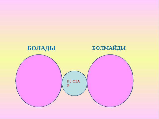ҚҰСТАР БОЛАДЫ БОЛМАЙДЫ