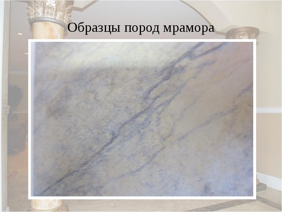 Образцы пород мрамора