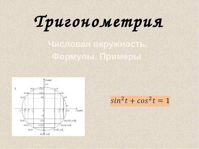 Числовая окружность. Формулы. Примеры Тригонометрия