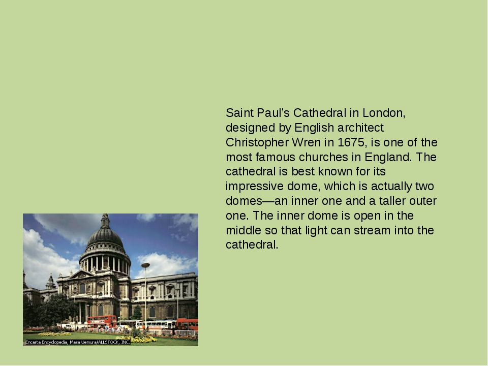 Saint Paul's Cathedral in London, designed by English architect Christopher...