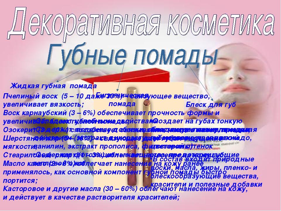Жидкая губная помада Гигиеническая помада Блеск для губ Пчелиный воск (5 – 10...