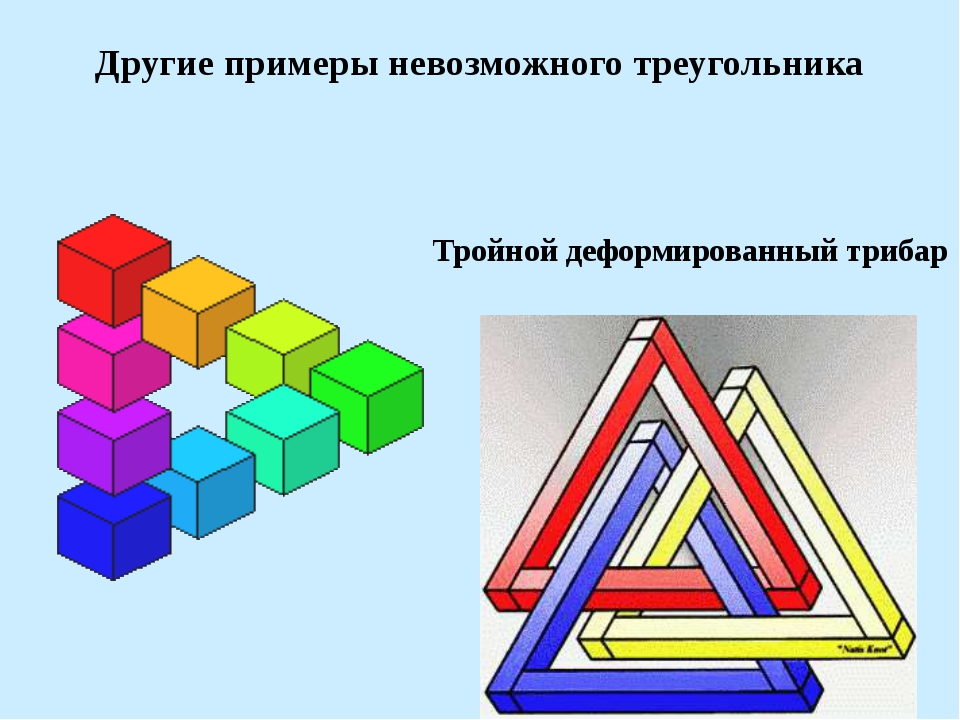 Другие примеры невозможного треугольника Тройной деформированный трибар