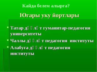 Югары уку йортлары Татар дәүләт гуманитар-педагогия университеты Чаллы дәүләт