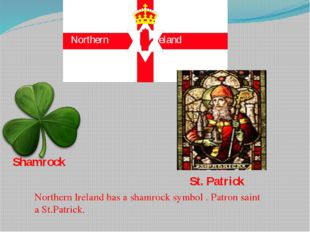 Northern Ireland Shamrock St. Patrick Northern Ireland has a shamrock symbol