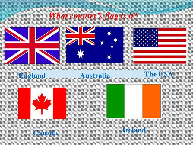 England Australia The USA Canada Ireland What country's flag is it?