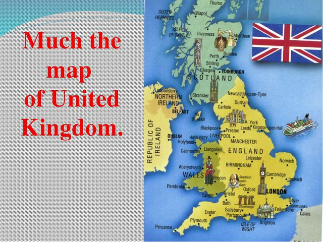Much the map of United Kingdom.