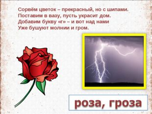 Сорвём цветок – прекрасный, но с шипами. Поставим в вазу, пусть украсит дом.