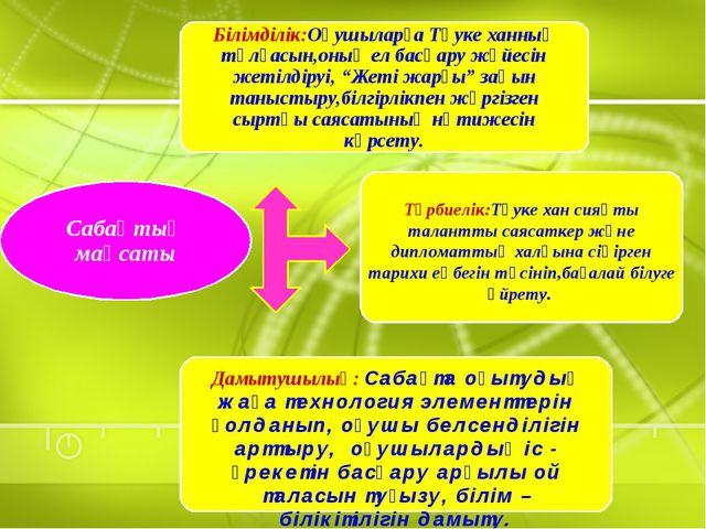 Дамытушылық: Сабақта оқытудың жаңа технология элементтерін қолданып, оқушы бе...