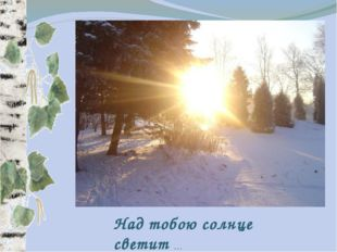 Над тобою солнце светит …
