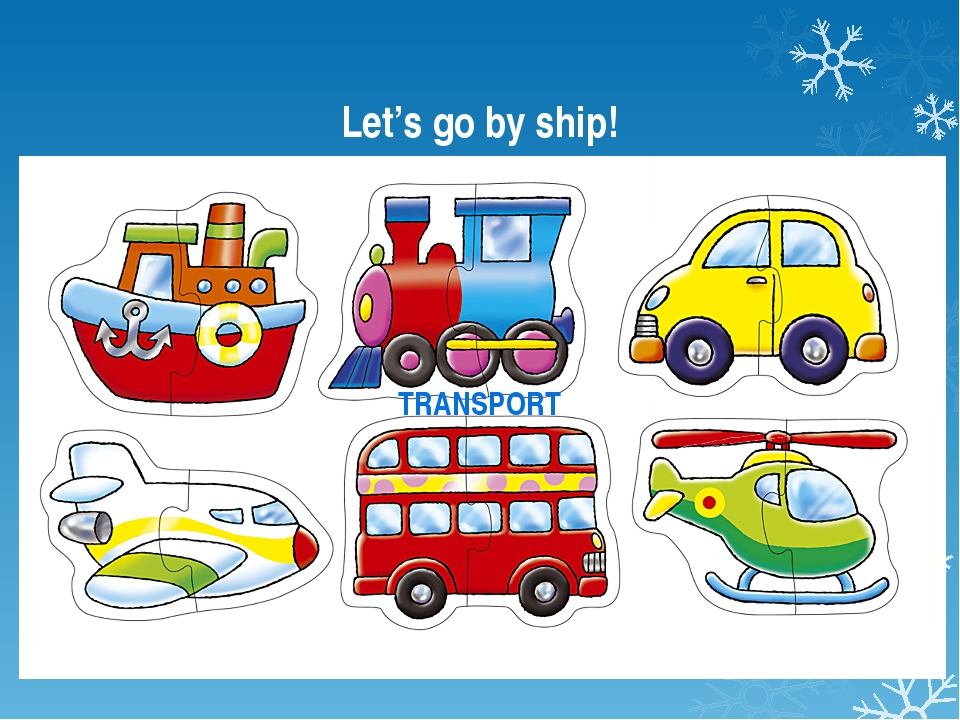 Let's go by ship! TRANSPORT