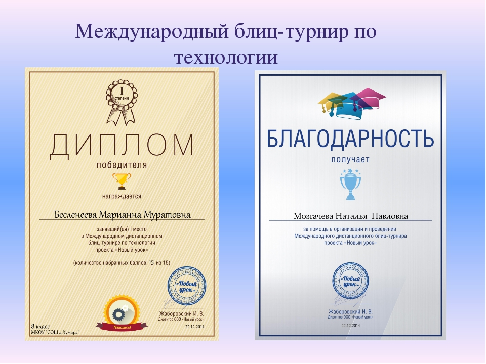 Международный блиц-турнир по технологии