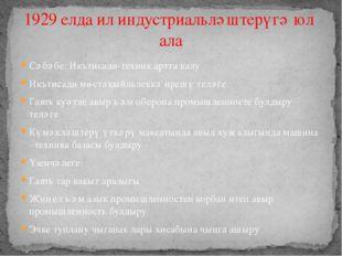 Сәбәбе: Икътисади-техник артта калу Икътисади мөстәкыйльлеккә ирешү теләге Га
