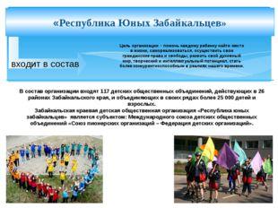 входит в состав «Республика Юных Забайкальцев» В состав организации входят 1