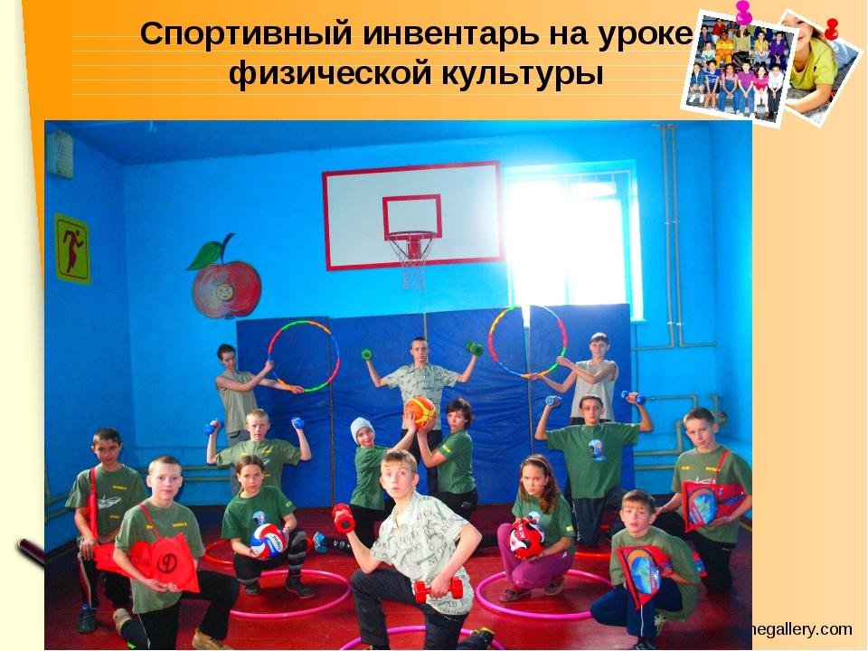 Спортивный инвентарь на уроке физической культуры www.themegallery.com