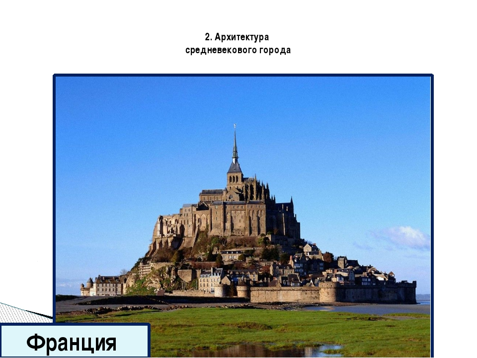 2. Архитектура средневекового города Крепость Каркасон ( Франция )