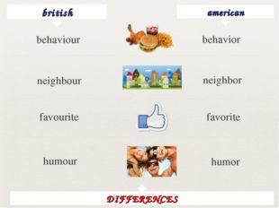 british american behavior neighbour neighbor favourite favorite humour humor
