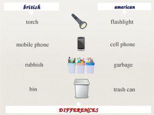 british american flashlight mobile phone cell phone rubbish garbage bin trash