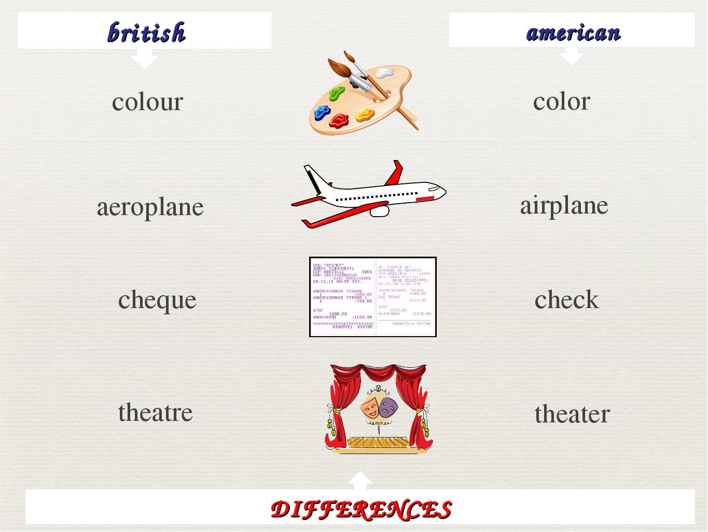 british american color aeroplane airplane cheque check theatre theater DIFFER...