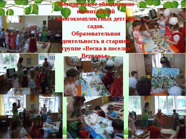 Методическое объединение воспитателей многокомплектных детских садов. Образов...