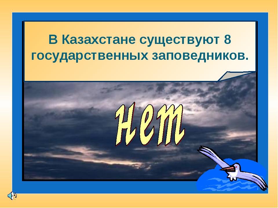 В Казахстане существуют 8 государственных заповедников.