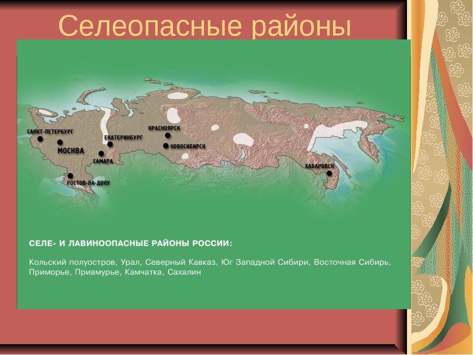 Селеопасные районы России.