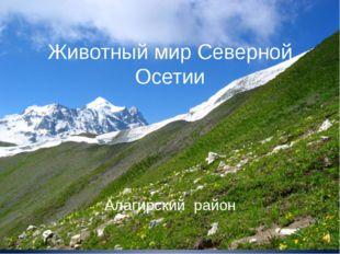 Животный мир Северной Осетии Алагирский район