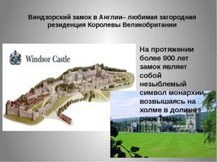 Виндзорский замок в Англии– любимая загородная резиденция Королевы Великобрит