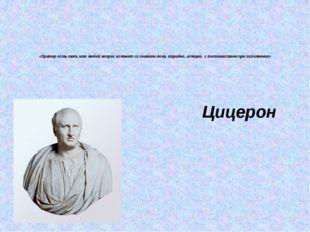 «Оратор есть тот, кто любой вопрос изложит со знанием дела, стройно, изящно,