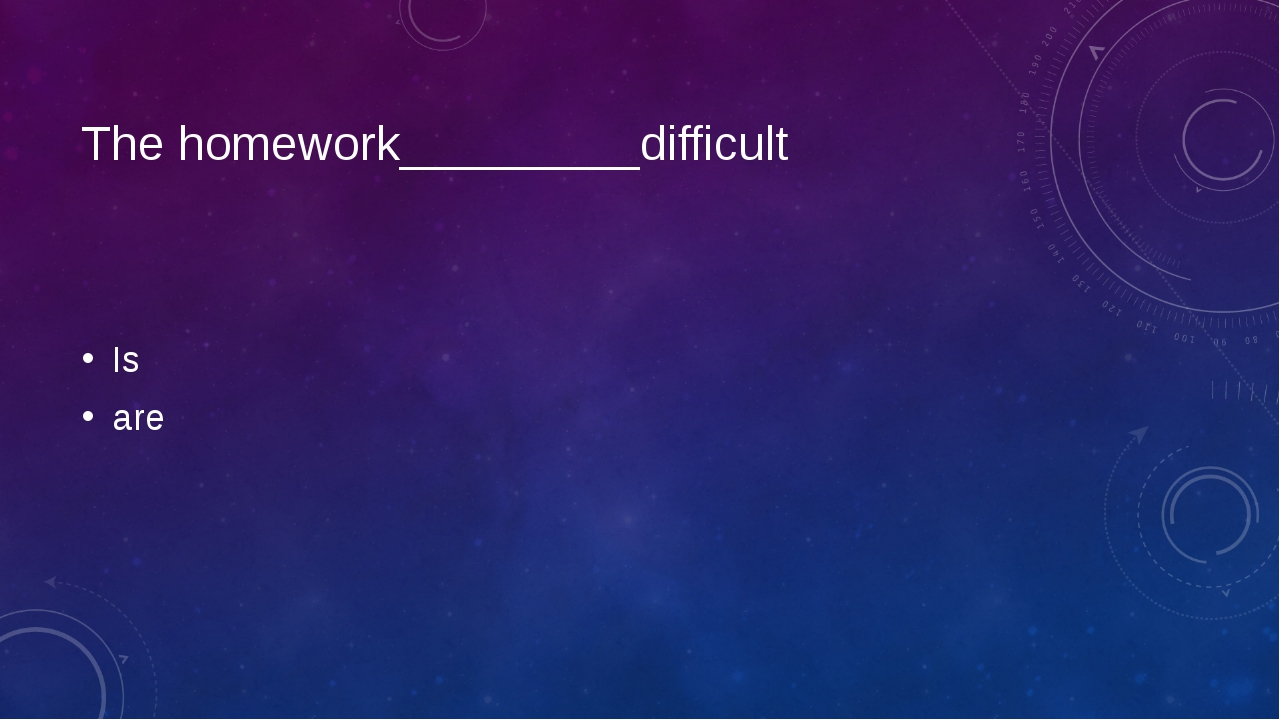 The homework_________difficult Is are