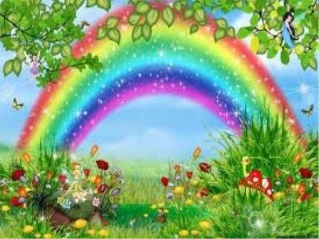 Что за чудо-коромысло После дождика повисло? Очень яркое, цветное, А красивое...