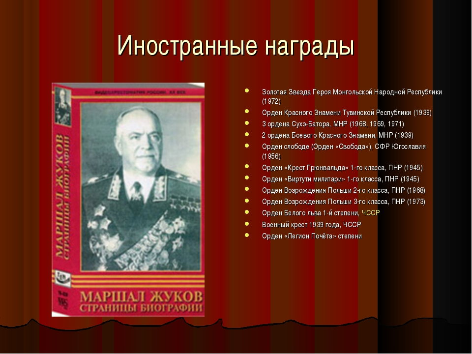 Иностранные награды Золотая Звезда Героя Монгольской Народной Республики (197...