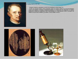 История открытия клетки Первым человеком, увидевшим клетки, был английский