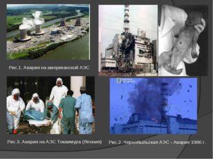 Рис.1. АвариянаамериканскойАЭС Рис.2. ЧернобыльскаяАЭС-Авария1986г.