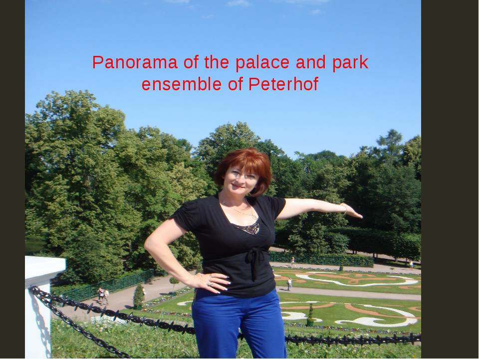 Рanorama of the palace and park ensemble of Peterhof