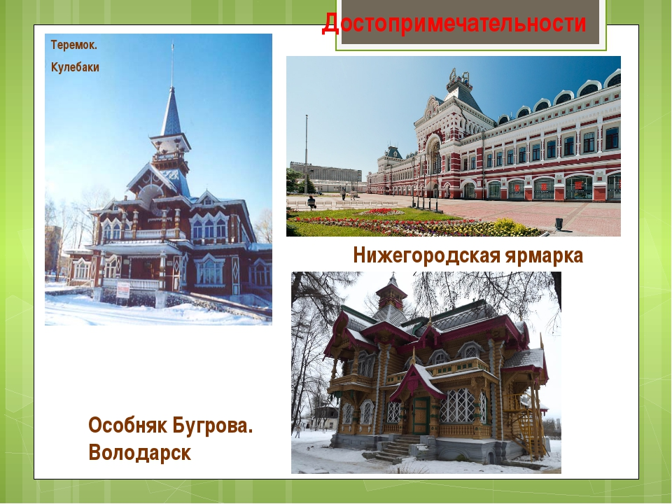 Достопримечательности Теремок. Кулебаки Особняк Бугрова. Володарск Нижегородс...