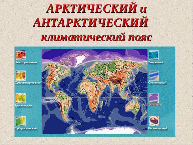 АРКТИЧЕСКИЙ и АНТАРКТИЧЕСКИЙ климатический пояс