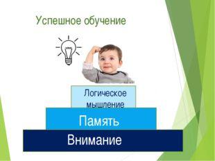 Успешное обучение Внимание Память Логическое мышление