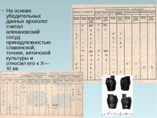 На основе убедительных данных археолог считал алекановский сосуд принадлежнос