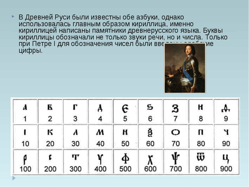 В Древней Руси были известны обе азбуки, однако использовалась главным образо...