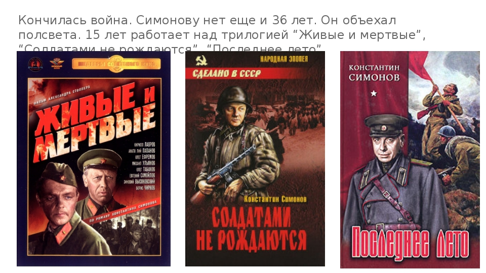 Кончилась война. Симонову нет еще и 36 лет. Он объехал полсвета. 15 лет работ...
