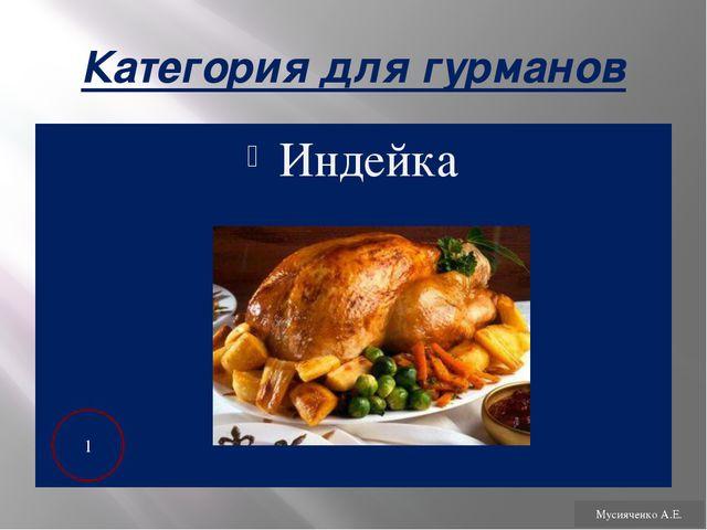 Категория для гурманов С молоком 1 Мусияченко А.Е.