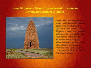 Қозы Көрпеш – Баян сұлу кешенінің қалпына келтірілген кейінгі көрінісі Ұстазы
