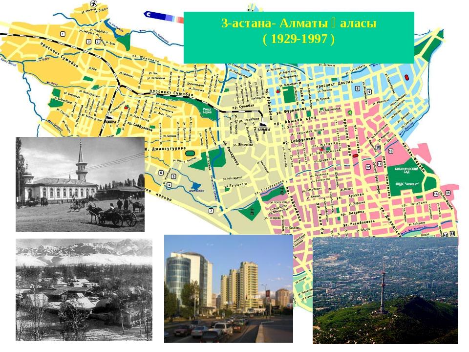 3-астана- Алматы қаласы ( 1929-1997 )