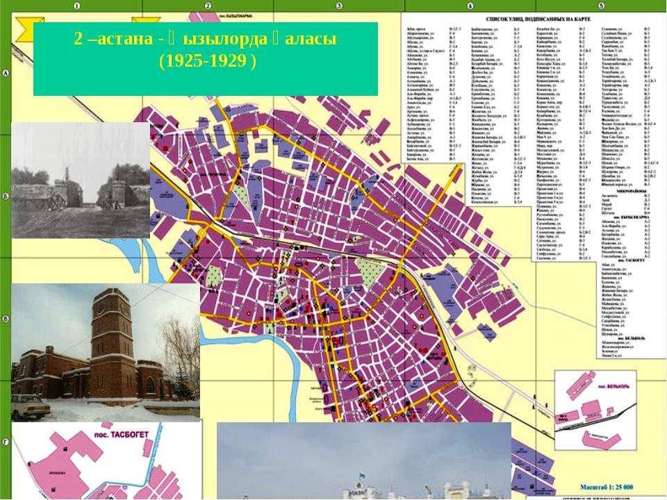 2 –астана - Қызылорда қаласы (1925-1929 )