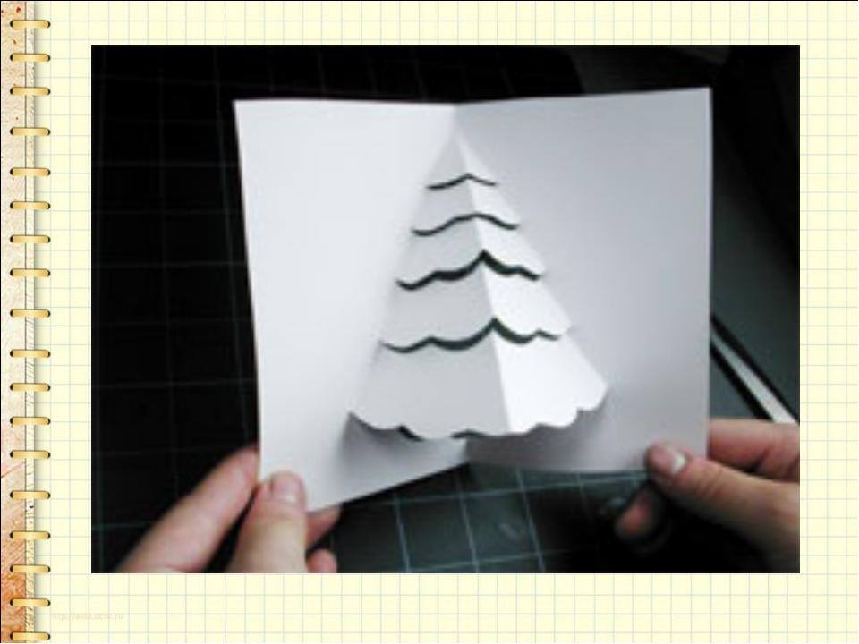 Как сделать новогоднюю открытку из бумаги видео
