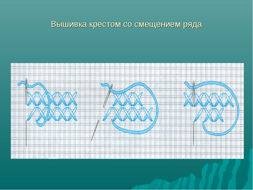 Вышивка крестом со смещением ряда
