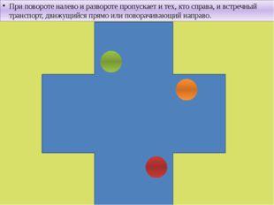 При повороте налево и развороте пропускает и тех, кто справа, и встречный тра