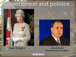 AlexSalmond, PrimeMinisterof Scotland Queen Elizabeth II