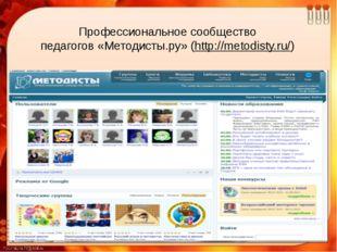Профессиональное сообщество педагогов«Методисты.ру» (http://metodisty.ru/)